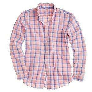 Men's J. Crew Lightweight Pink Large Check Shirt